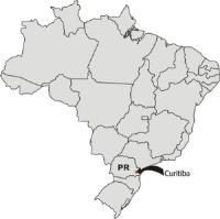curitiba mapa do brasil