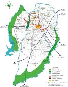 mapa turismo curitiba
